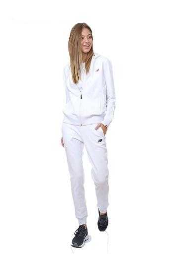 New Balance New Balance Kadın Fermuarlı Kapüşonlu Eşofman Üstü Nb Logo Full Zip Hoodie Wpj032-Wt Gri